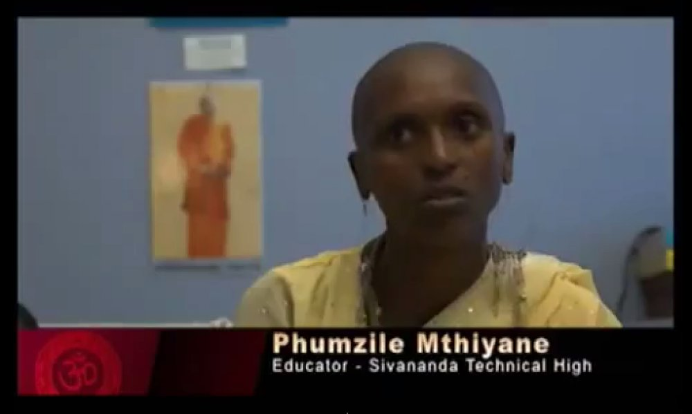 Divine Life Society of South Africa devotee Pumzile Mthiyane