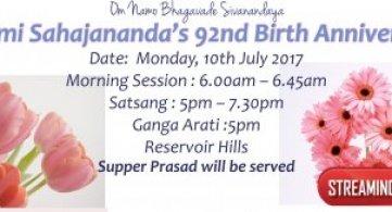 Report: Pujya Swami Sahajananda's 92nd Birth Anniversary