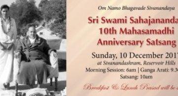 Report: Pujya Swami Sahajananda's 10th Mahasamadhi Anniversary