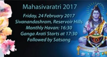 Mahasivaratri 2017 - Click Here for More Information