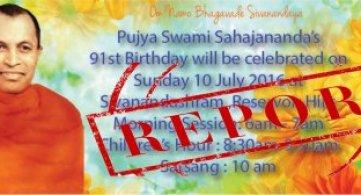 Report: Pujya Swami Sahajananda's 91st Birth Anniversary Celebrations
