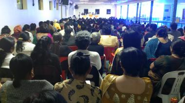 Devotees gathered in Satsang - Female Section