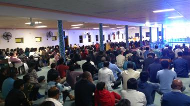 Devotees gathered in Satsang