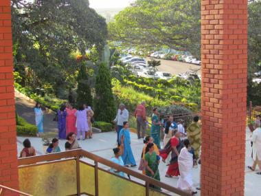 Devotees undertaking the Ganga Yatra