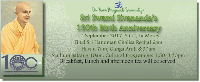 Report: Sri Swami Sivananda's 130th Birth Anniversary Celebrations