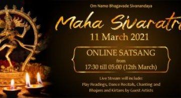 Report: Maha Sivaratri 2021 - Online Satsang (5:30pm - 5am)