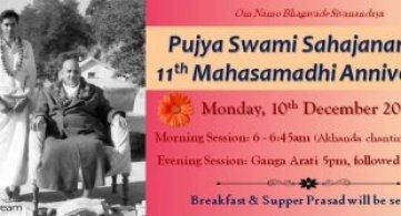 Report: Pujya Swami Sahajananda's 11th Mahasamadhi Anniversary