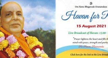 Live Stream: Peace Havan (15 August 2021)